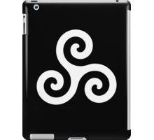 Triskele Chest Design (White) iPad Case/Skin