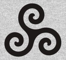 Triskele Chest Design (Black) T-Shirt