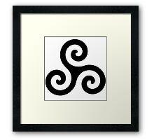 Triskele Chest Design (Black) Framed Print