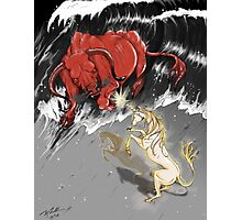 The Last Unicorn Battles The Red Bull Photographic Print