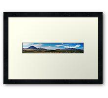 Two Volcanoes, Two Moods, One Frame Framed Print