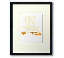 Whiplash - Not My Tempo Framed Print