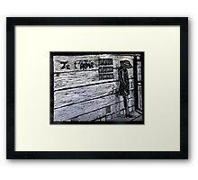 Je'taime-Woodcut Framed Print