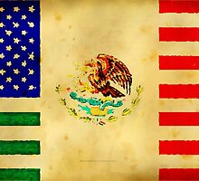 MEXICAN AMERICAN FLAG - 017 by LBStudios