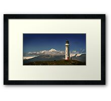 Between the Ocean Roar and Snow Capped Volcano, Mementoes Of Framed Print