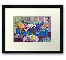 Young Woman Sleeping Framed Print
