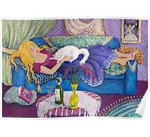 Young Woman Sleeping Poster