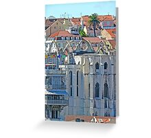 Convento do Carmo. (view from Lisbon castle) Greeting Card