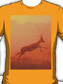Springbok - Jumping for Gold - African Wildlife T-Shirt