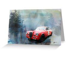 1961 Lancia Aurelia Greeting Card