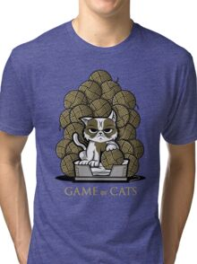 GAME OF CATS Tri-blend T-Shirt