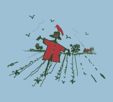 red scarecrow red crow by picketty