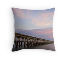 Port Welshpool Jetty #2 Throw Pillow