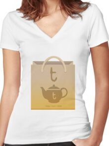T-Time Women's Fitted V-Neck T-Shirt