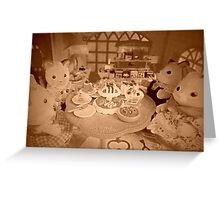 Sylvanian Families ~ Cat Family  Greeting Card