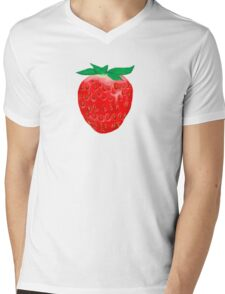 One Strawberry to Rule Them All Mens V-Neck T-Shirt