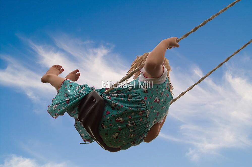Little Girl on Swing by Michael Mill