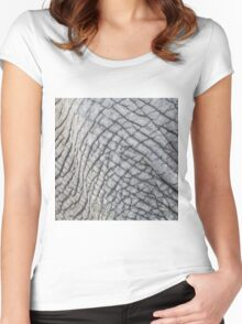 Elephant Skin - Natural Patterns and Textures Women's Fitted Scoop T-Shirt