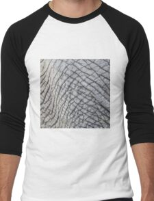 Elephant Skin - Natural Patterns and Textures Men's Baseball ¾ T-Shirt