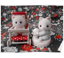 Sylvanian Families ~ Cat Babies Poster