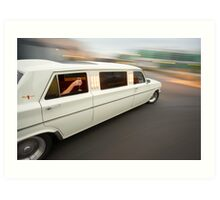 White Holden EH Limo rig shot Art Print