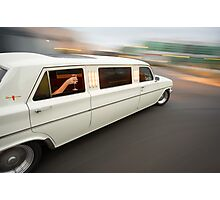 White Holden EH Limo rig shot Photographic Print