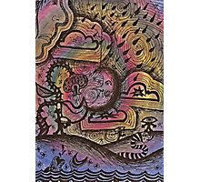 Psychedelic doodles  Photographic Print