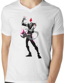 The Jack of Diamonds Mens V-Neck T-Shirt
