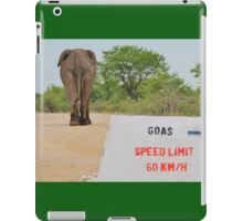 Elephant - Tourists go Slow iPad Case/Skin