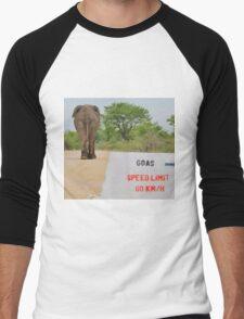 Elephant - Tourists go Slow Men's Baseball ¾ T-Shirt