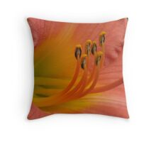 Sea of Peach Throw Pillow