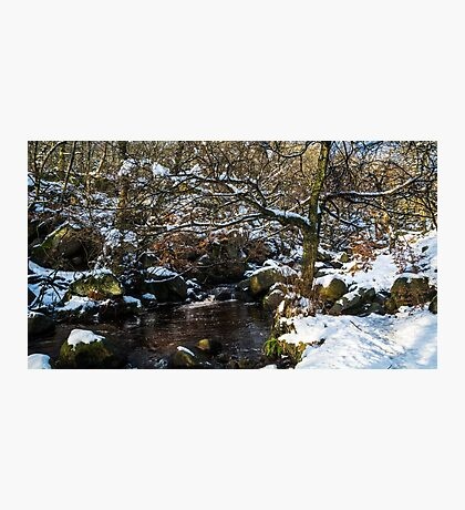 Burbage Brook in Winter Photographic Print