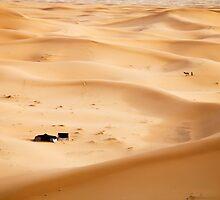 Berber Settlement in the Sahara, Erg Chebbi by cpcphoto