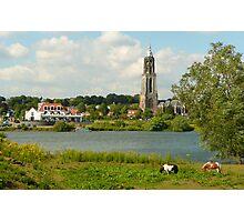Summer riverland at Rhenen Photographic Print