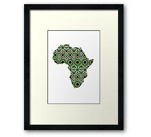 Africa Pattern Framed Print