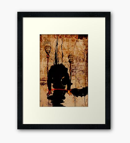 MAN ASKING FOR FORGIVENESS ON A DAY THAT EVERYTHING IS TOO LATE AND WORTHLESS Framed Print