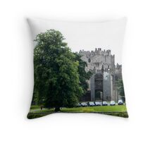 Raby Castle from the side Throw Pillow