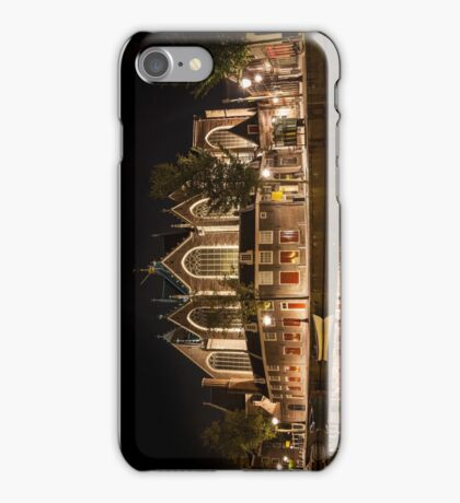 Amsterdam night: The Oude Church iPhone Case/Skin