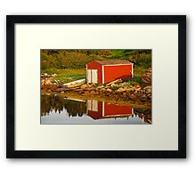 The Little Red Shed Framed Print