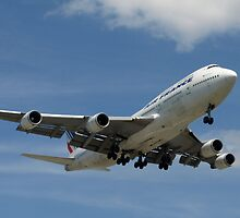 A 747 Lands at Jean Drapeau Airport by Moxy