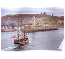 Whitby Harbour 2 Poster