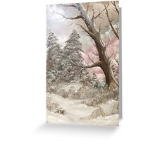 Winter Starts Here Greeting Card
