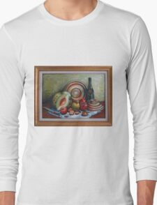 Stilll Life with Melon Long Sleeve T-Shirt