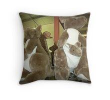 Kangaroos & Joeys Creswick Knitting Mills - Vic. Throw Pillow
