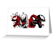 Symbiote Rushmore Greeting Card