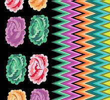 CHEVRON ROSES by Heaven7
