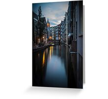 Canal in Amsterdam, early morning Greeting Card