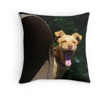 Bored dog :) Throw Pillow