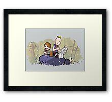 Chunk and Sloth Framed Print