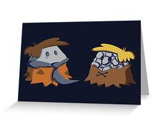 Flint and Rubble Greeting Card